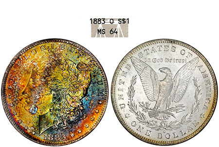 1883-O MORGAN NGC MS 64