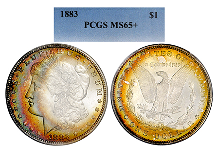 Show product details for 1883-P MORGAN PCGS MS 65 PLUS