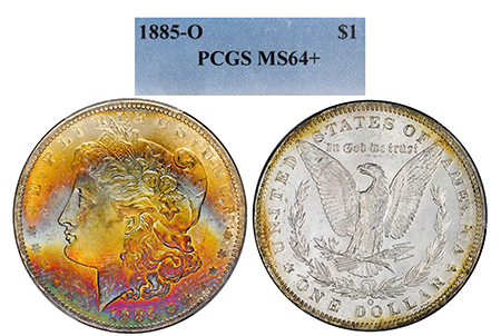 1885-O MORGAN PCGS MS 64 PLUS