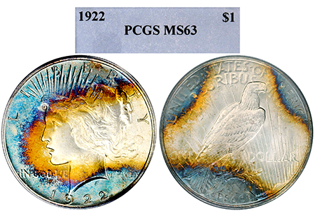 1922-P PEACE DOLLAR PCGS MS 63