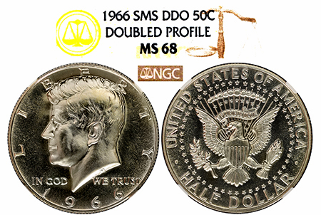 1966 SMS DDO OBVERSE KENNEDY NGC MS 68